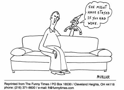 Funny puppet computer mueller cartoon, August 02, 2000