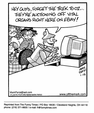 Funny Mark computers parisi  cartoon, August 09, 2000