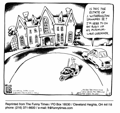 Funny taxes poor money  cartoon, September 06, 2000