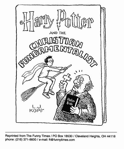 Funny kopf religion harry  cartoon, October 04, 2000