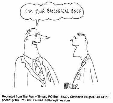 Funny mueller boss biological  cartoon, October 11, 2000