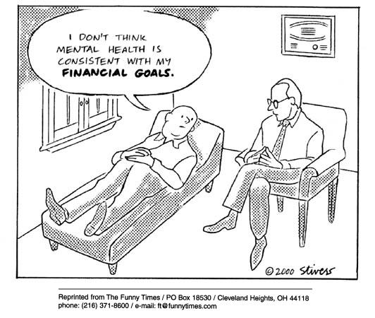 Funny stivers health psychology  cartoon, January 10, 2001