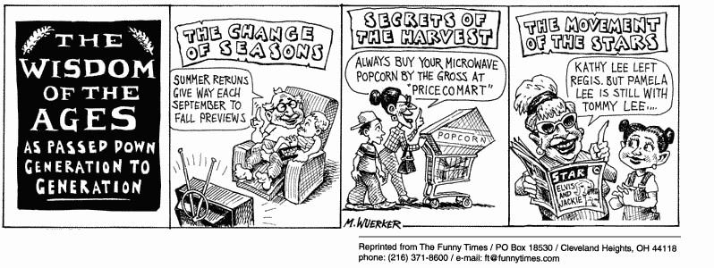 Funny matt wuerker life  cartoon, May 30, 2001