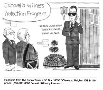 Funny religion clone jehovahs  cartoon, August 08, 2001