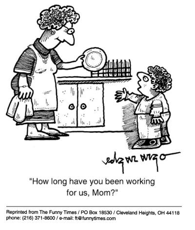Funny food kids parents  cartoon, August 22, 2001