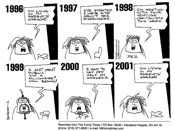Funny dotcom internet bateman  cartoon, September 26, 2001