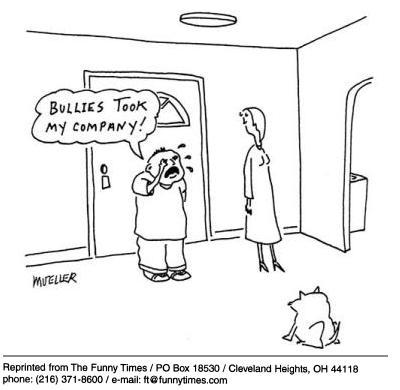 Funny mueller business company  cartoon, November 07, 2001