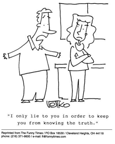 Funny marriage truth lie  cartoon, November 28, 2001