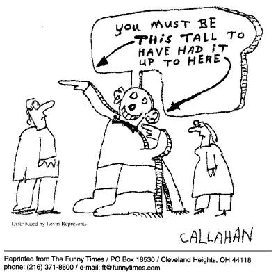 Funny callahan business tall  cartoon, December 12, 2001