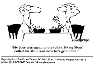 Funny work Glasbergen mom  cartoon, December 19, 2001