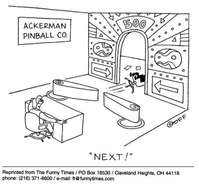 Funny work goff company  cartoon, December 26, 2001