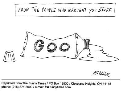 Funny mueller marketing soccer  cartoon, February 20, 2002