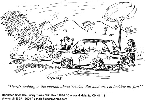 Funny car Sipress fire  cartoon, May 29, 2002