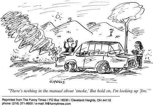 Funny car Sipress fire  cartoon, May 29, 2002