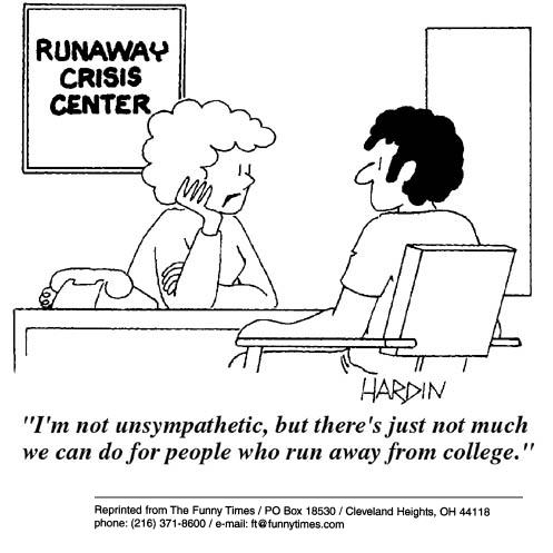 Funny crisis Hardin college cartoon, July 31, 2002