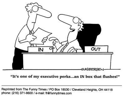 Funny work office Glasbergen cartoon, October 09, 2002