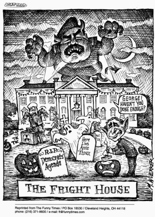 Funny bush george matt  cartoon, October 30, 2002