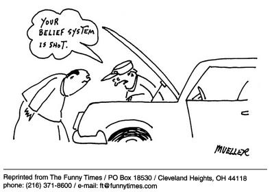Funny mueller religion system cartoon, November 27, 2002