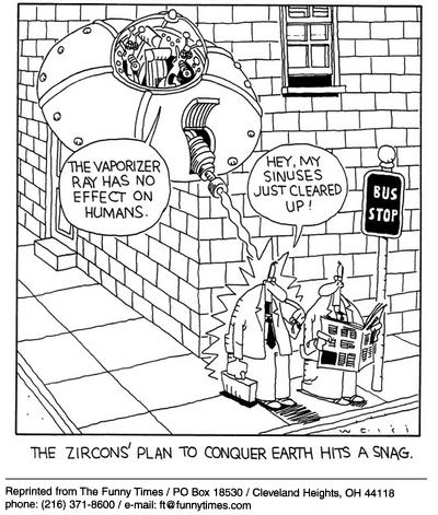 Funny earth health aliens  cartoon, December 11, 2002