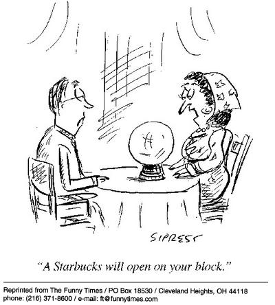 Funny ball Sipress starbucks cartoon, December 25, 2002