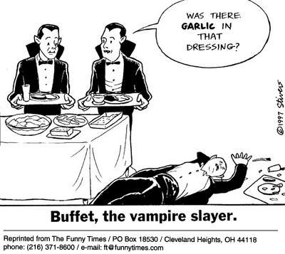 Funny food stivers vampires  cartoon, January 29, 2003