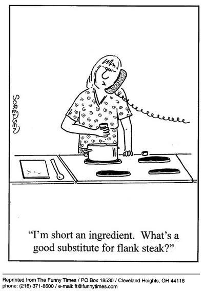 Funny cooking steak sorensen  cartoon, February 05, 2003