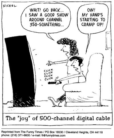 Funny control 500 channels  cartoon, February 26, 2003