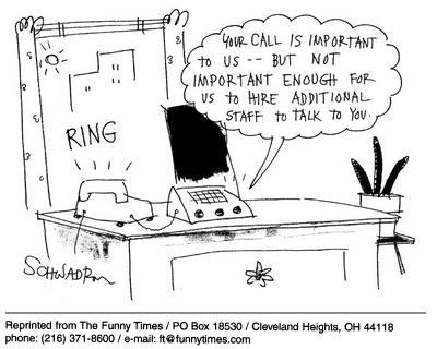 Funny work answering machine  cartoon, March 19, 2003