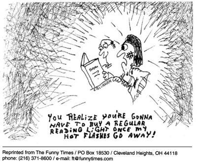 Funny bed reading callahan  cartoon, May 14, 2003