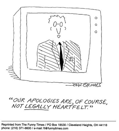 Funny john grimes apologies cartoon, May 21, 2003