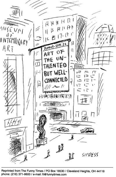 Funny David Sipress art  cartoon, June 11, 2003