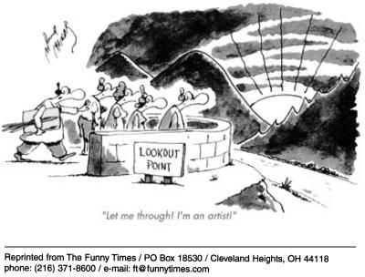 Funny attack artist sunset  cartoon, September 03, 2003