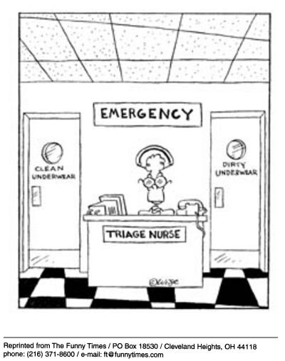Funny elderly hospital media  cartoon, September 17, 2003