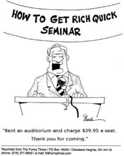 Funny get money rich  cartoon, October 01, 2003