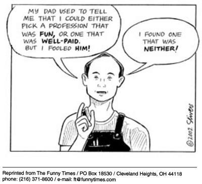 Funny stivers work Mark  cartoon, October 29, 2003