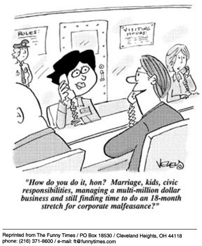 Funny white corporate brad  cartoon, November 05, 2003