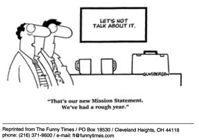 Funny work vision office cartoon, November 26, 2003