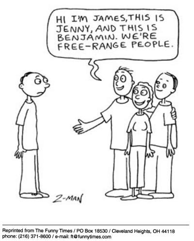 Funny Ziemann free range  cartoon, December 10, 2003