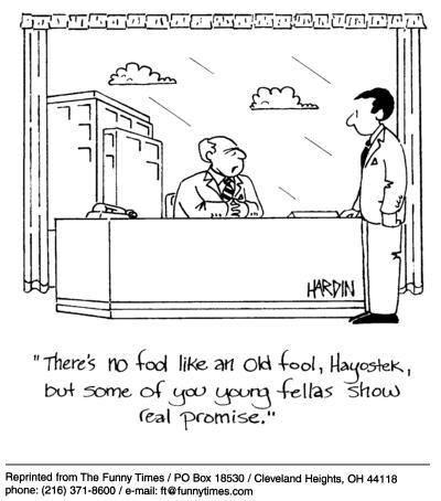 Funny work office Hardin cartoon, December 24, 2003