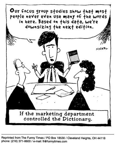 Funny nickel language god  cartoon, February 11, 2004
