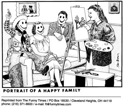 Funny happy Ken Brown  cartoon, April 21, 2004