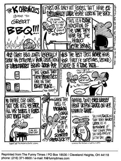 Funny Keith Knight restaurant  cartoon, June 30, 2004