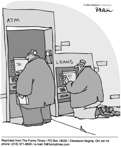 Funny mike Baldwin atm  cartoon, August 04, 2004