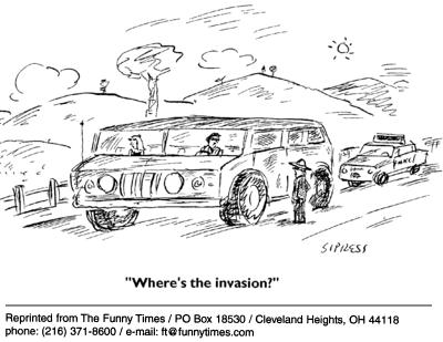 Funny David Sipress cars  cartoon, September 08, 2004