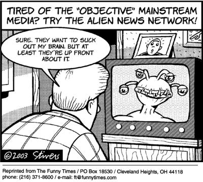 Funny stivers Mark alien  cartoon, September 22, 2004