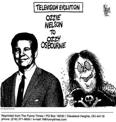 Funny evolution television ozzy  cartoon, November 10, 2004