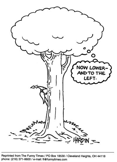 Funny Patrick Hardin tree  cartoon, January 26, 2005
