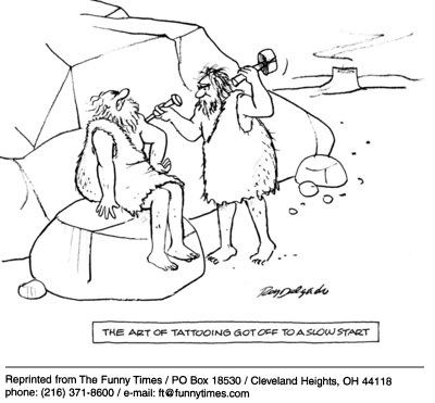 Funny delgado Roy tattoo  cartoon, March 16, 2005