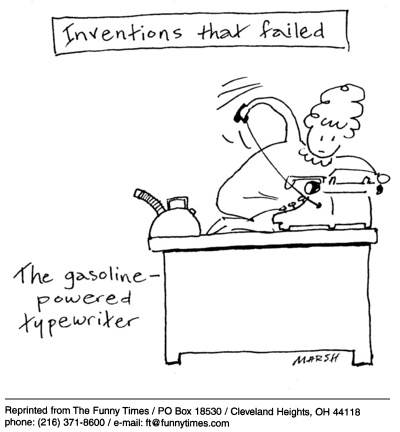 Funny office gasoline AC cartoon, April 13, 2005