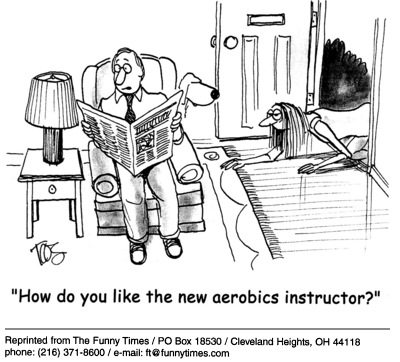 Funny Andrew Toos aerobics  cartoon, May 18, 2005
